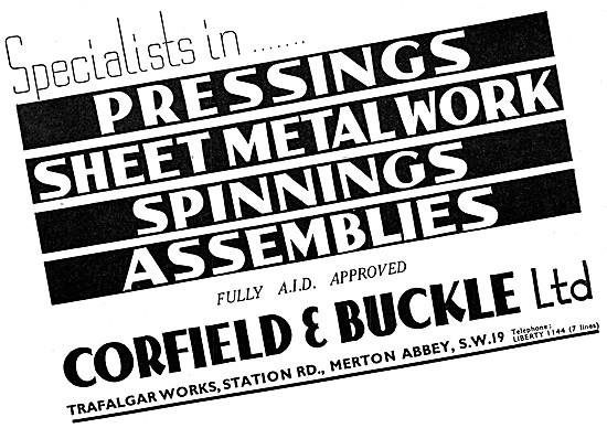 Corfield And Buckle Pressings & Sheet Metalwork