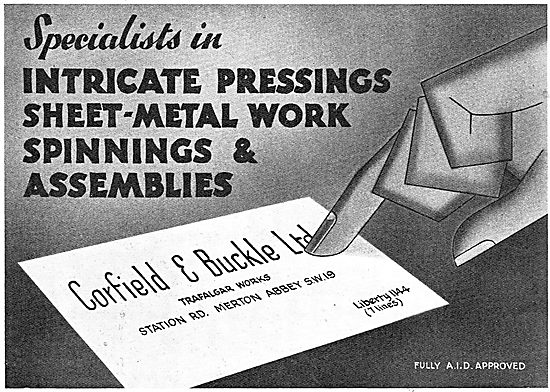 Corfield And Buckle :  Aircraft  Assembly Work
