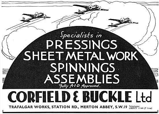Corfield And Buckle :  Aircraft Sheet Metal & Engineering Work