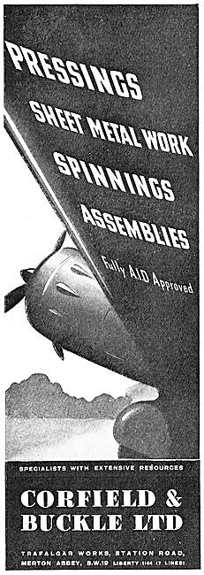 Corfield And Buckle :  Aircraft Sheet Metal & Engineering Work