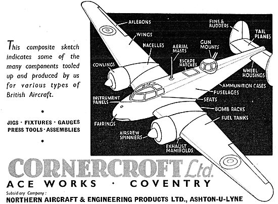 Cornercroft Aircraft Components, Toolwork  & Assemblies