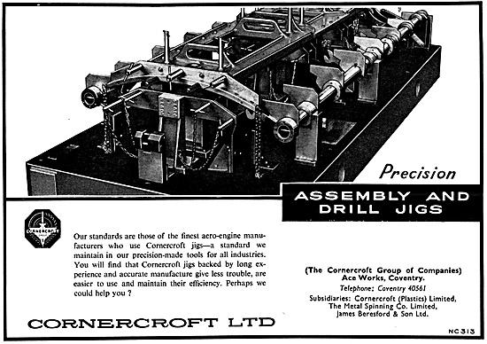 Cornercroft Precision Engineering, Assemblies & Jigs 1959