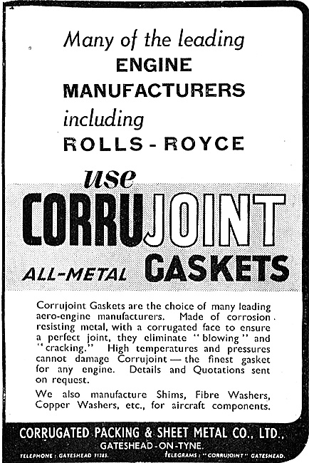 Corrugated Packing - Corrujoint. Gaskets