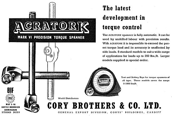 Cory Brothers Acratork Torque Wrenches & Spanners