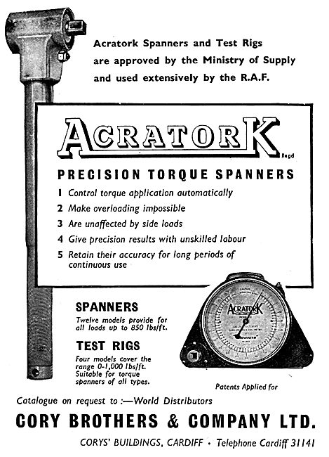 Cory Brothers Acratork Precision Torque Spanners
