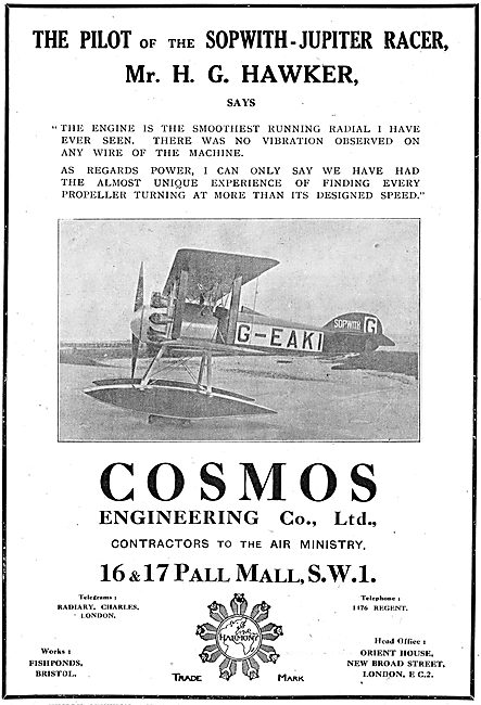 The Cosmos Engineering Co. Sopwith-Jupiter G-EAKI
