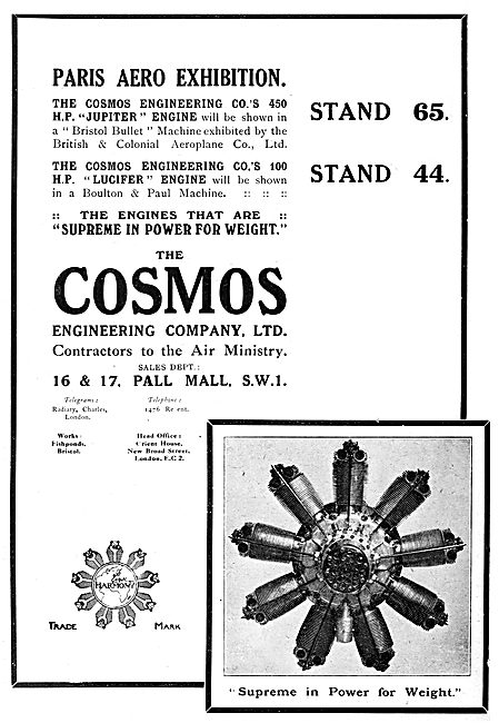 Cosmos Jupiter - Cosmos Lucifer Aero Engines