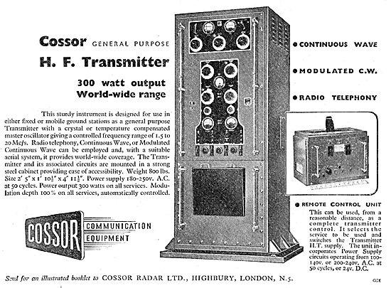Cossor 300 Watt HF Transmitter