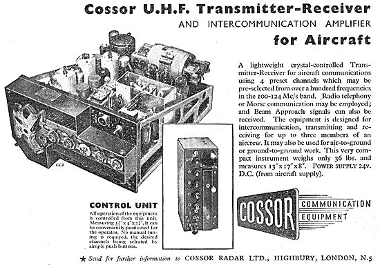 Cossor UHF Transmitter-Receiver For Aircraft