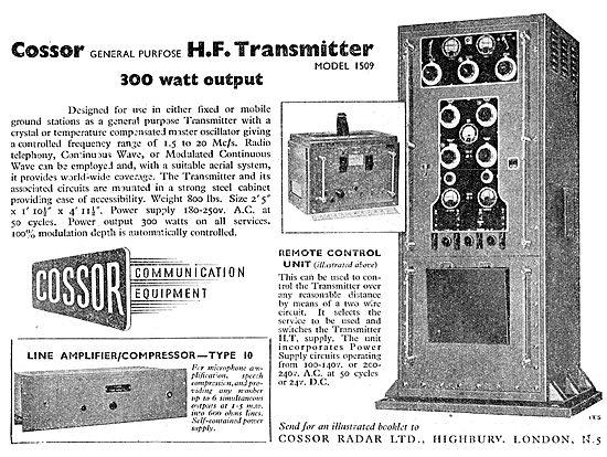 Cossor HF Transmitter