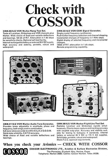 Cossor Avionics - CRM.555 ILS/VOR Marker Ramp test Set