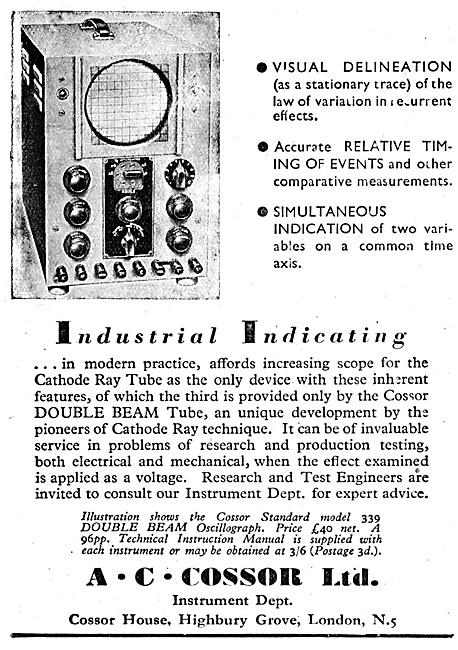 Cossor Double Beam Cathode Ray Tube 1944