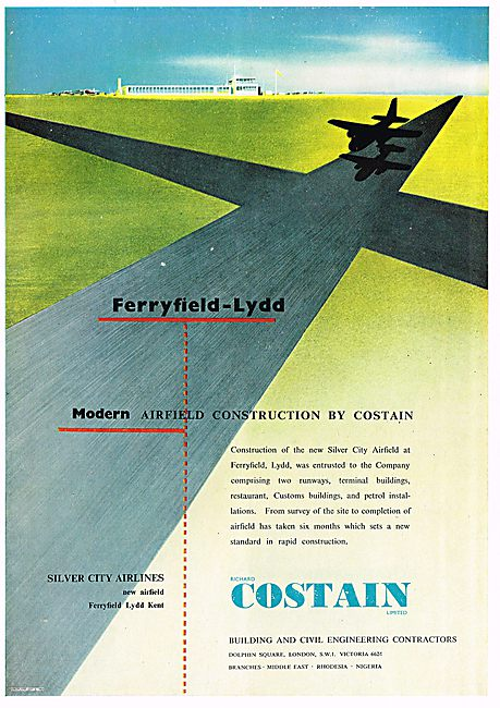 Modern Airfield Construction By Costain. Lydd Ferryfield