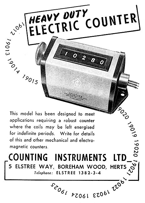 Counting Instruments. Heavy Duty Electric Counter