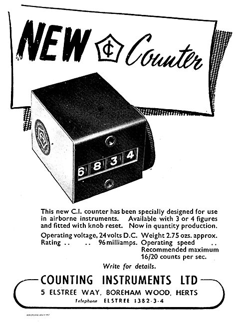 Counting Instruments 24 Volt DC CI Counter