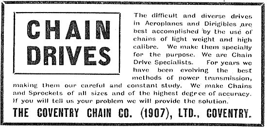 The Coventry Chain Co For Aeroplane Chains
