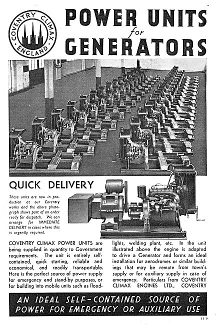 Coventry Climax Factory Power Units & Generators 1938