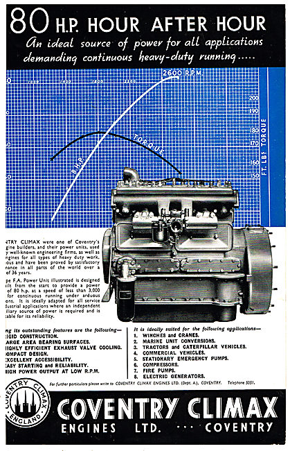 Coventry Climax Multi Purpose 80HP Engine