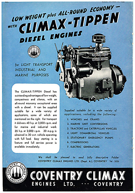 Coventry Climax - Climax-Tippen Industrial Diesel Engine