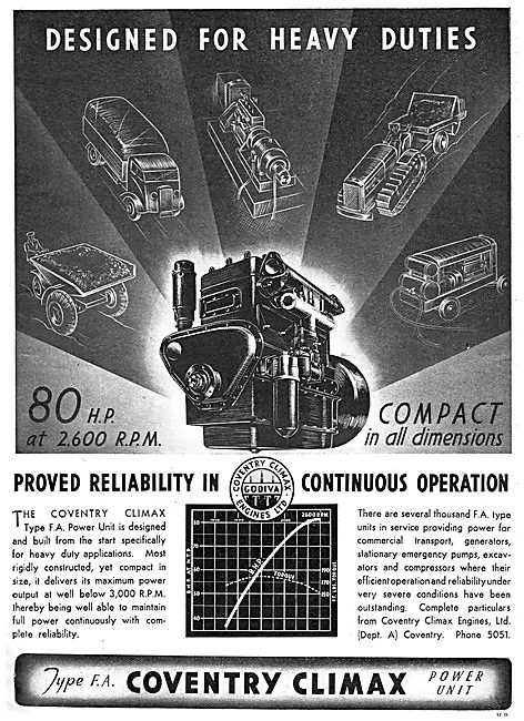 Coventry Climax FA Power Unit: Industrial Engine