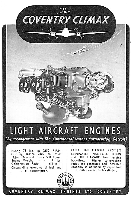 Coventry Climax Continental Aircraft Engines