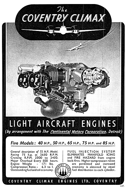 Coventry Climax - Continental Motors Aero Engines 1940
