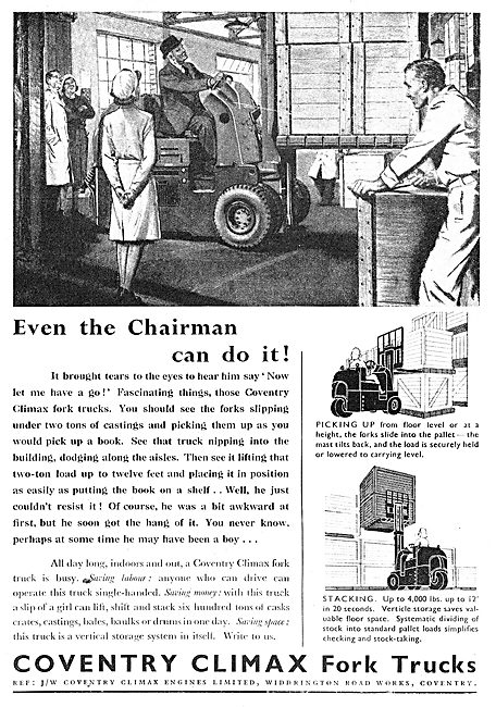 Coventry Climax Fork Lift Trucks