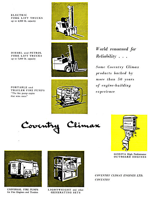 Coventry Climax Industrial Engines 1959