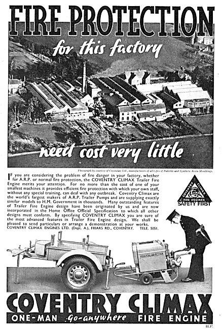 Coventry Climax Trailer Fire Engine