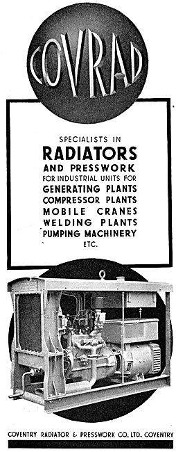 Coventry Radiator & Pressworks. - Generators & Welding Plant