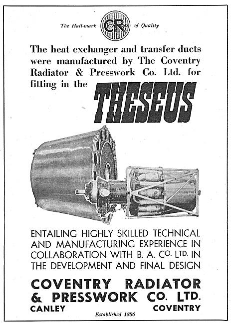 Coventry Radiator & Pressworks. Heat Exchange Equipment