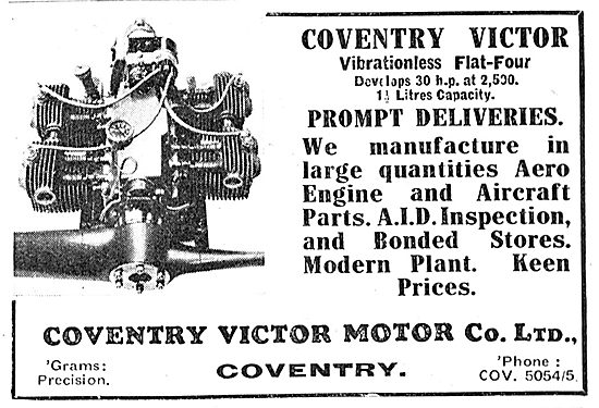 Coventry Victor Flat-Four Aero Engines