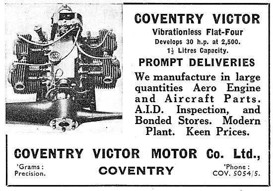 Coventry Victor Flat Four Aero Engine