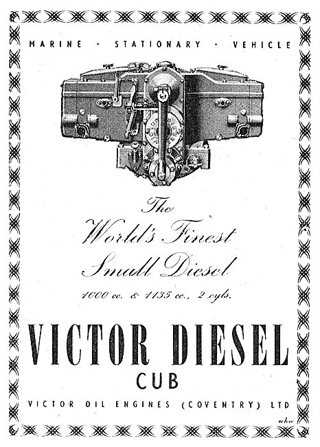 Coventry Victor Cub Diesel Engine
