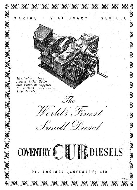 Coventry Cub Diesel Engine