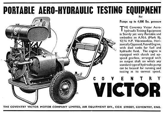 Coventry Victor Portable Aero-Hydraulic Test Rig (AN4 12/14 HP)
