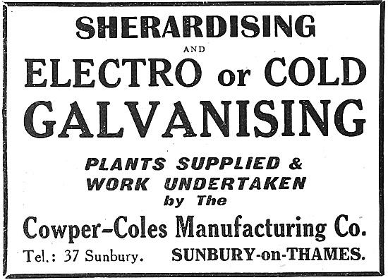 Cowper-Coles - Sherardising & Electro Or Cold Galvanising