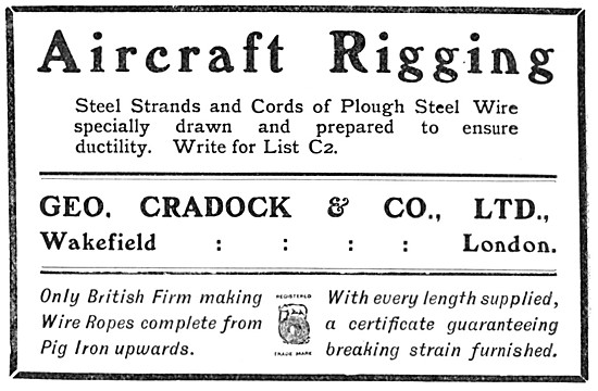 George Cradock Steel Strands & Wire. Aircraft Rigging