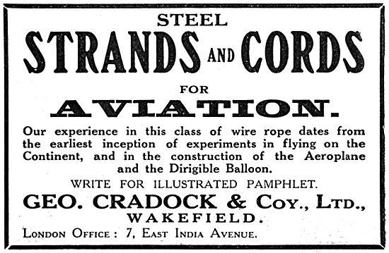 George Cradock. Wakefield. Wire Rope, Steel Strands & Cords
