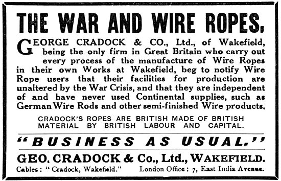 George Cradock. Wire Rope, Steel Strands & Cords