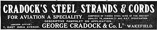George Cradock Steel Strands & Cords For Aircraft Constructors