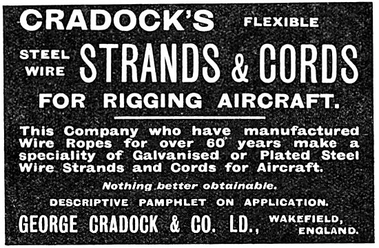 George Cradock Steel Strands & Cords For Rigging Aircraft