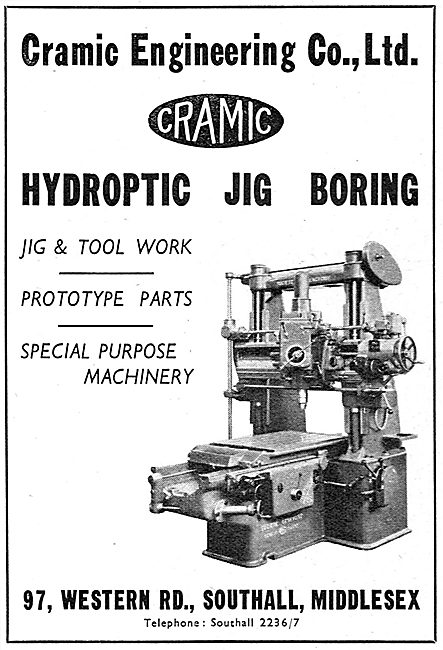 Cramic Engineering  Hydroptic Jig Boring 1939