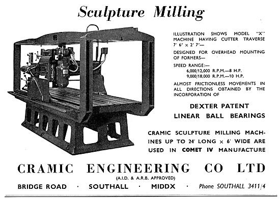 Cramic Engineering Sculpture Milling Machines