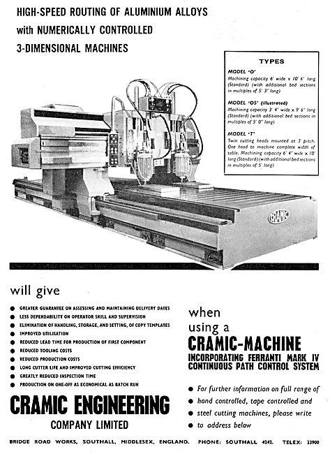 Cramic Engineering High-Speed Routing Machine 1965