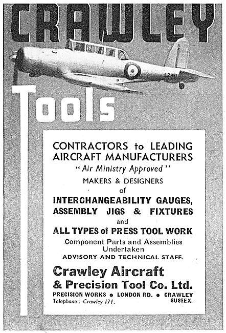 Crawley Tools - Precision Engineering, Jigs & Tools 1939