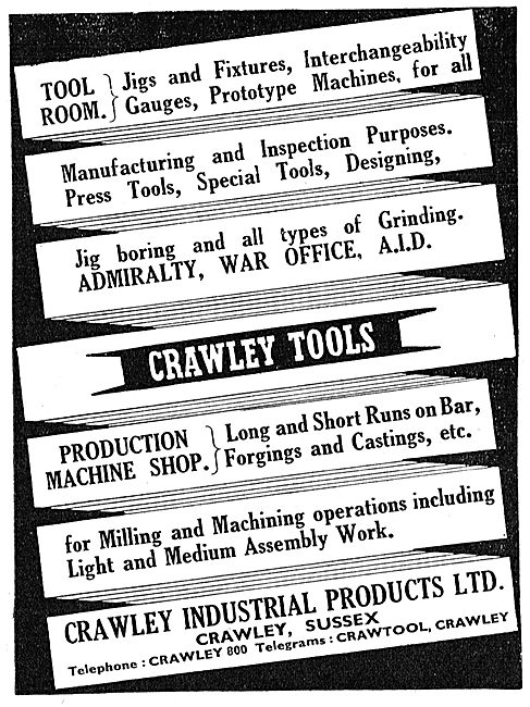 Crawley Industrial Products - Jigs Machine Tools