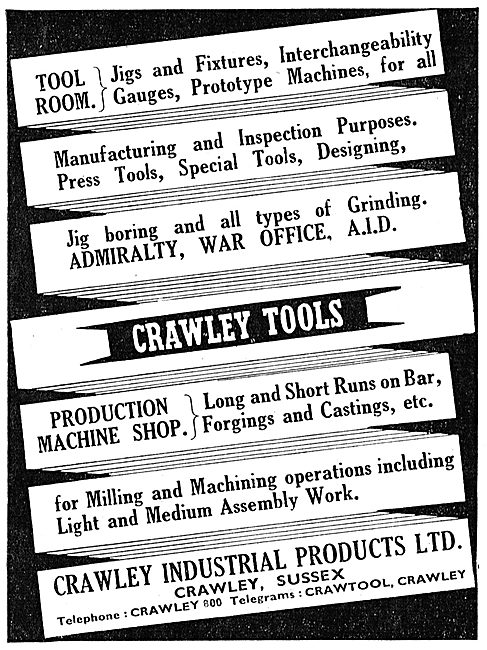 Crawley Industrial Products - Tools & Jigs