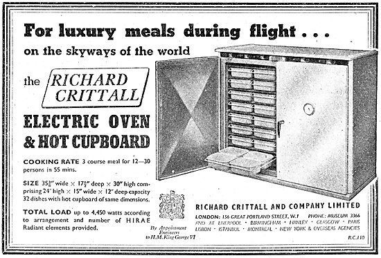 Richard Crittal Airborne Ovens & Hot Cupboards