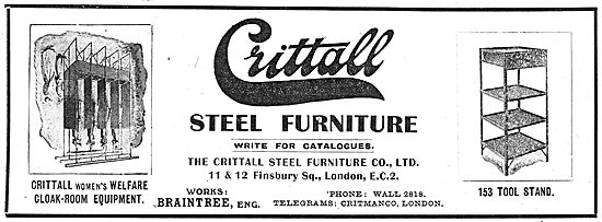Crittall Steel Furniture For Aircraft Factories
